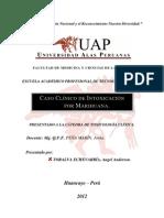 Caso Clínico de Intoxicación por Marihuana