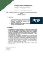 DETERMINACIÓN DE CONSTANTES FISICAS