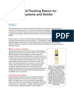 Cleaning and Flushing Basics for Hydraulic Systems and Similar Machines