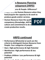 Human Resource Planning &Development (HRPD)-PPT Slides 2012