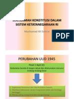 Mahkamah Konstitusi Dalam Sistem Ketatanegaraan Ri