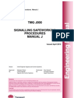 Signalling Safeworking Procedures - Manual J