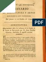 Observaciones sobre los nabazos de la Ciudad de S. Lucar de Barrameda por D. Juan Sanchez Cisneros, Individuo de aquella sociedad económica (1799)