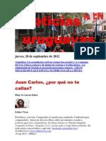 Noticias Uruguayas Jueves 20 de Setiembre Del 2012