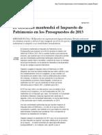Impuesto Patrimonio Sala Serra Expansion