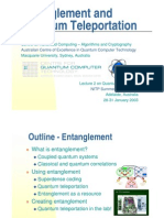Entanglement and Teleportation