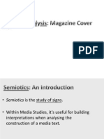 Semiotic Analysis- Magazine Cover
