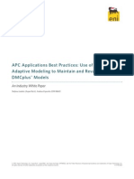 APC Applications Best Practices - Use of Aspen Adaptive Modeling