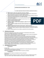 criterios recuperación DE MATEMÁTICAS 1º ESO  12-13