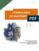 Formulario de matemáticas aplicadas