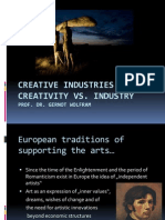 Gernot Wolfram_Creative Industries-Creativity vs. Industry