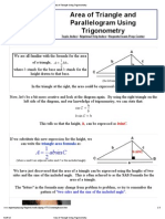 Area of Triangle Using Trigonometry