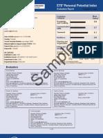 PPI Sample Score Report