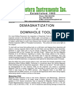 DEMAGNATIZATION of  DOWNHOLE TOOLS