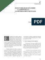 Arrchivo y Bibliografia Sobre La Segunda Republica