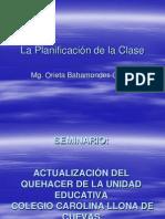 La Planificación de la Clase (2)