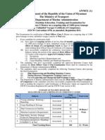 Guidance of Maritime Education, Training and Examination