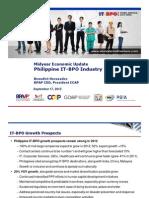 Mid-year Economic Update - Philippine IT-BPO Industry