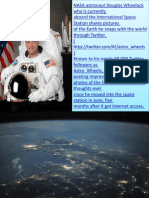 NASA Astronaut Douglas Wheelock Photos From Space Ship