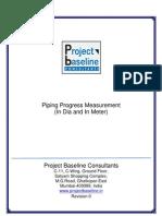 Piping-Progress-Measurement-(in Dia and in Meter)