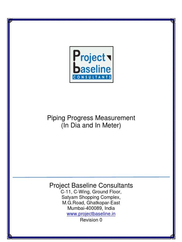 Piping-Progress-Measurement-(in Dia and in Meter) | Metre