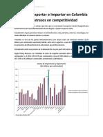 Costos de Exportar e Importar en Colombia y Los Atrasos en Competitividad