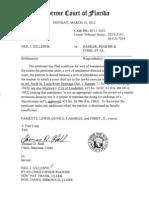 Petition SC11-1622 Denied Mar-12-2012, Florida Supreme Court