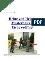 Heinz von Heiden Musterhaus in Eicheeröffnet