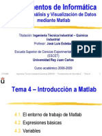 FI0809 Tema 4 - Introduccion a Matlab