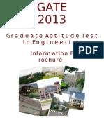 GATE 2013 Brochure