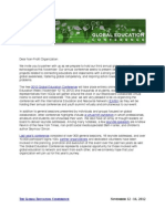 GEC Partner Letter