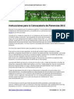 GEC Call for Proposals Spanish