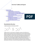 Piperonal and Safrole From Vanillin and Eugenol