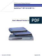 Audiocodes MP-11xx y MP-124 SIP User's Manual Ver 5.2