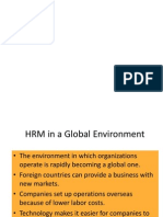 HRM in a Global Environment