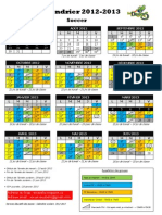 Calendrier Scolaire Primaire 2012-2013 - Soccer