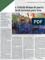 Intento fallido expropiaciones Artieda (Heraldo de Aragón)