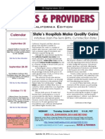 Payers & Providers California Edition – Issue of September 20, 2012