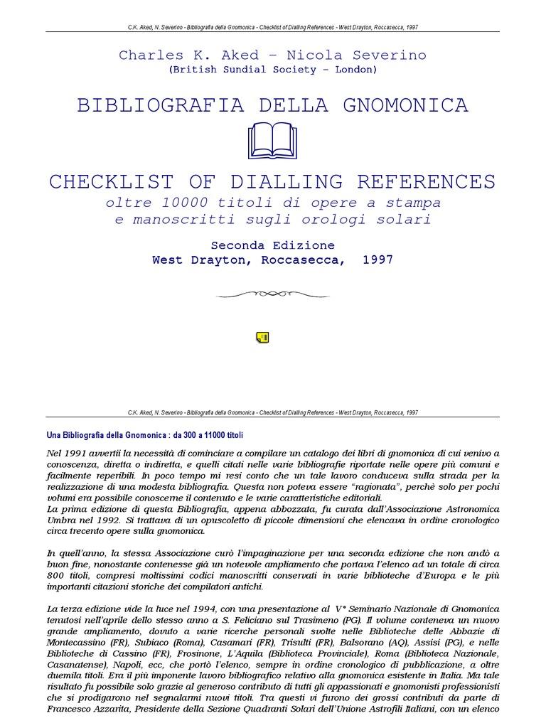 International bibliography of gnomonica alexandria libraries fandeluxe Choice Image