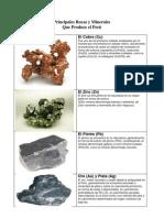 Principales Rocas y Minerales - Color