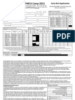 Early Bird Registration Form 2013