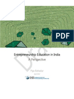 A Perspective on Entrepreneurship Education in India-Draft