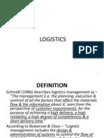 2. Logistics