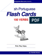 English-Portuguese Flash Cards - 100 Verbs