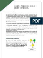 DEMOSTRACIÓN  INDIRECTA  DE  LAS  LEYES  DE  MENDEL
