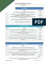 2012 IEEE project list Epro Technologies