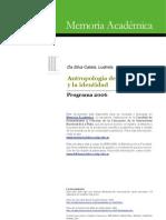 Antropologia de La Memoria en Memoria Fahce Edu Ar Programas Pp912