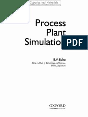 Process Plant Simulation Babu | Mathematical Optimization