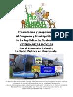 PAGT VETERINARIAS MÓVILES Proyecto Nacional Rep. de Guatemala  Marzo 2012