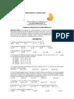 EXAMEN DIAGNOSTICO  matemáticas P3